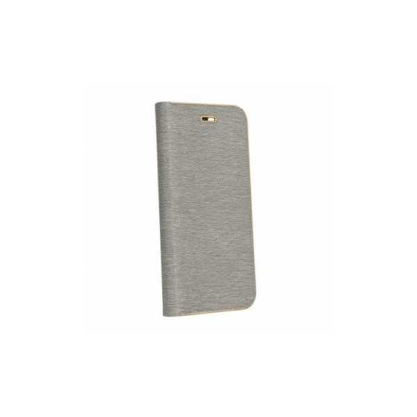 Peňaženkový obal Luna Book na Huawei P30 Pro  Strieborný